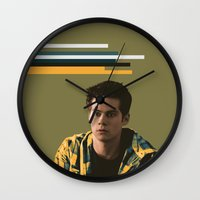 stiles Wall Clocks featuring Stiles on Army Green by halerogerrs