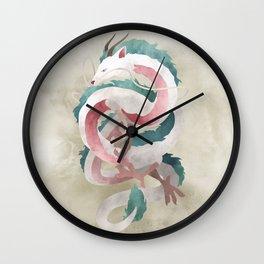Spirited away - Haku Dragon illustration - Miyazaki, Studio Ghibli Wall Clock
