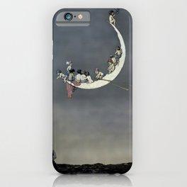 """ Moon's First Voyage"" Fairy Art by W Heath Robinson iPhone Case"