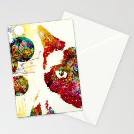 """""""I Can't Look At The Stars"""" Siamese Cat Stationery Cards"""