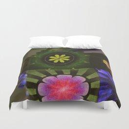 Brinish Symmetry Flowers  ID:16165-053020-45980 Duvet Cover