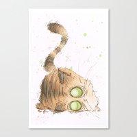 tigger Canvas Prints featuring Tigger by Morgan Ofsharick - meoillustration