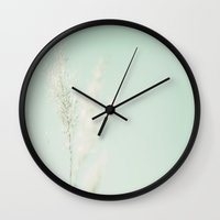 aqua Wall Clocks featuring Aqua by Jessica Torres Photography