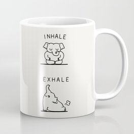 Inhale Exhale Elehant Coffee Mug