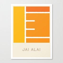 Jai Alai (Sports Surfaces Series, No. 13) Canvas Print