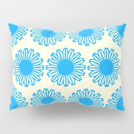 Vintage Flower_Turquoise Pillow Sham
