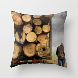 3's A Crowd Throw Pillow