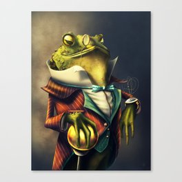 Country Club Collection #6: A Time Piece Fit For A Toad Canvas Print