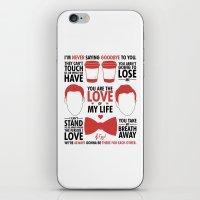 kurt rahn iPhone & iPod Skins featuring Kurt & Blaine  by Zara Yow