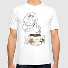 Music grandpa White SMALL Mens Fitted Tee
