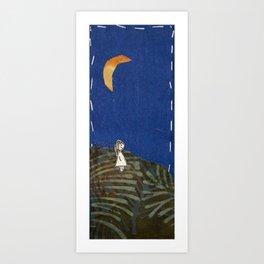 Walking through dusk Art Print