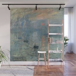 Claude Monet – Impression soleil levant – impression sunrise Wall Mural