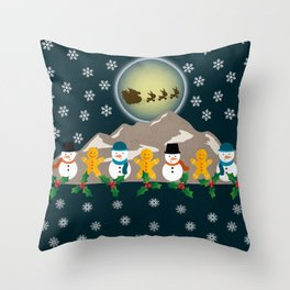 My Childhood's Christmas Throw Pillow