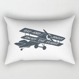 Day And Night Enjoy The Flight Rectangular Pillow