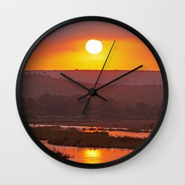 Early morning in Africa Wall Clock