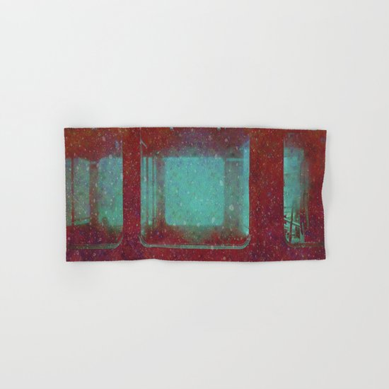 Into the City, Structure Windows Grunge Hand & Bath Towel