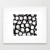 daisies Framed Art Prints featuring Daisies by leah reena goren