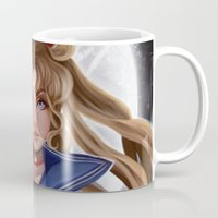 sailor moon Mugs featuring Sailor Moon by This Is Niniel Illustrator