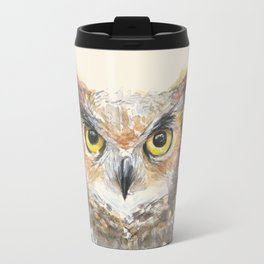 Owl Great Horned Bird Animals Travel Mug