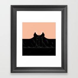 Lingeramas - Sexy Black Lingerie Top Framed Art Print