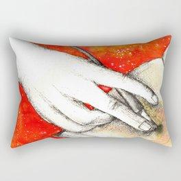Inky hands11-Writing Rectangular Pillow