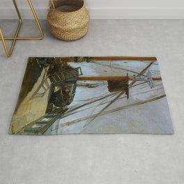 """Édouard Manet """"The ship's deck"""" Rug"""