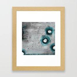 Charcoal Circles Right Framed Art Print