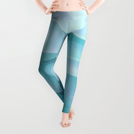 Sea Glass Ocean Blue Leggings