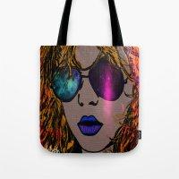 blondie Tote Bags featuring BLONDIE by AZZURRA DESIGNS