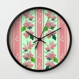 Retro Floral 05 Wall Clock
