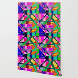 """The X"" Abstract- Vibrant Multi-Color Design Wallpaper"