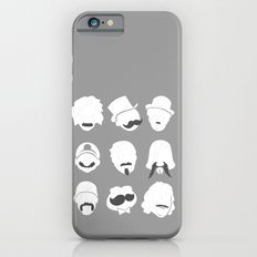 Famous Moustaches grey iPhone 6s Slim Case