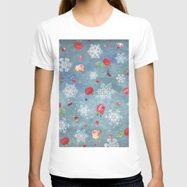 Snow and Roses T-shirt
