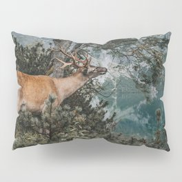 The Mountain Deer - Landscape and Nature Photography Pillow Sham