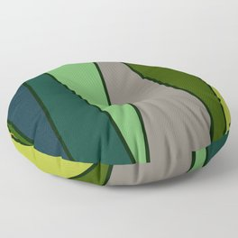 Green Abstract Pattern Turtle Floor Pillow