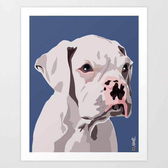 WhiteDog Art Print