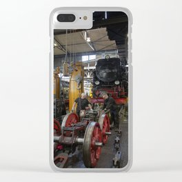 Disassembled steam locomotive Clear iPhone Case