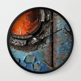 caution {deconstruction series Wall Clock