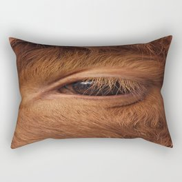 Highland Cow's Eye Closeup Rectangular Pillow