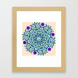 Purple madness Framed Art Print