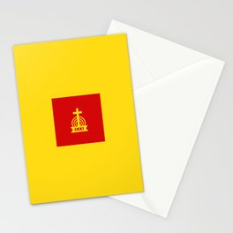 Henny Maestro - Red on Yellow Stationery Cards