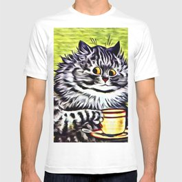 "Louis Wain's Cats ""Kitty On Coffee Break"" T-shirt"
