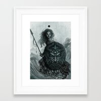 shield Framed Art Prints featuring Shield by Caroline Jamhour