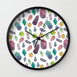 watercolour cystals Wall Clock