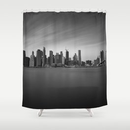 Manhattan Skyline Monochrome Shower Curtain