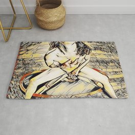 6170s-KD Mirror Reflections Erotic Art in the style of Wassily Kandinsky Rug