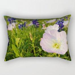 Pink Evening Primrose - Texas Wildflowers Rectangular Pillow