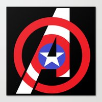 avenger Canvas Prints featuring Captain Avenger by foreverwars