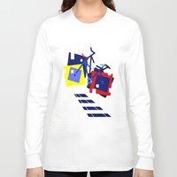 bicycles Long Sleeve T-shirts featuring Abstract geometrical bicycles. by capricorn