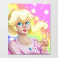 princess peach Canvas Prints featuring Peach Princess by The Art of Leena Cruz :)
